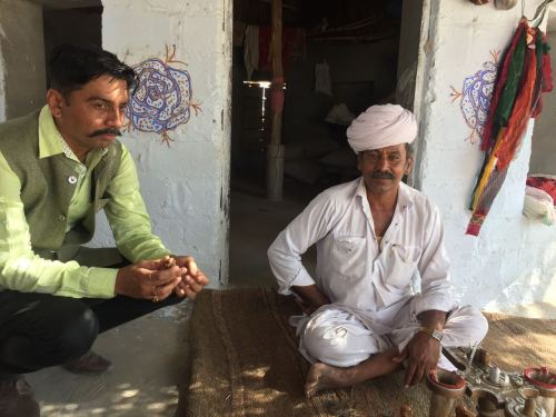 Tulsiram in bishnoi village