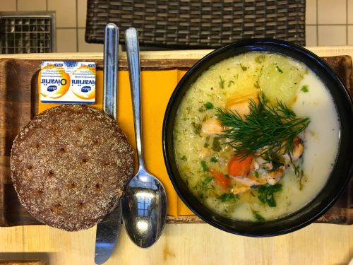 fish soup and rye bread