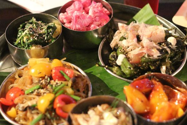 Rainbow Banchan (side dishes) created by all the chefs