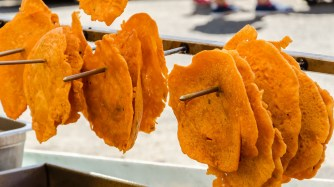 Bacalaitos--fritters of salted cod, a common beach snack