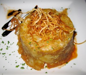 An example of mofongo, a staple of Puerto Rican cuisine