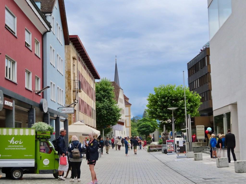 Downtown Vaduz in Liechtenstein