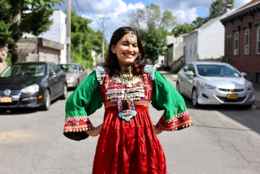 Balqees Sayed in an Afghani Kamees