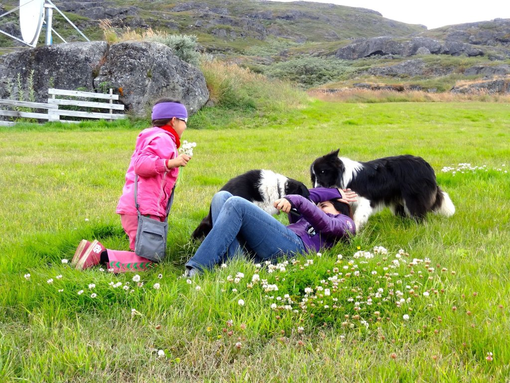 encounter with a child in Greenland