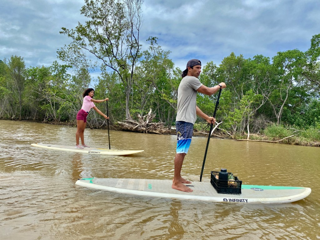 water sports with locals