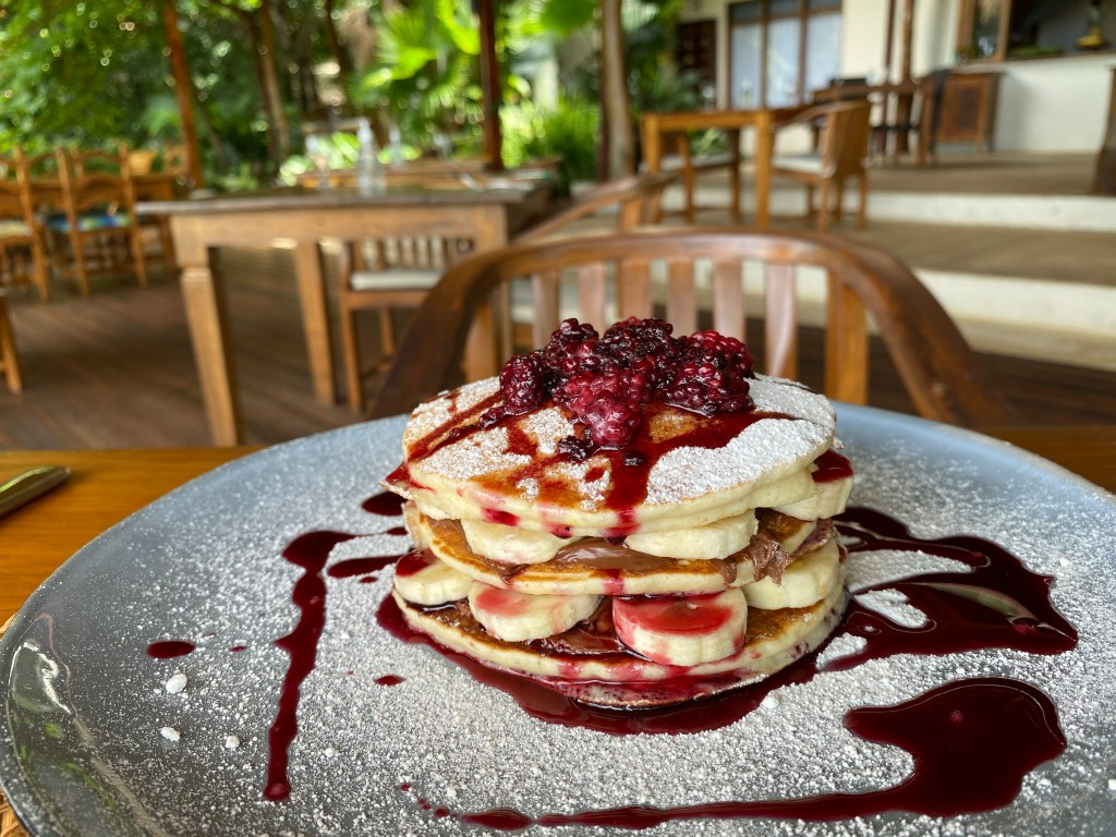 locally sourced fruit pancakes