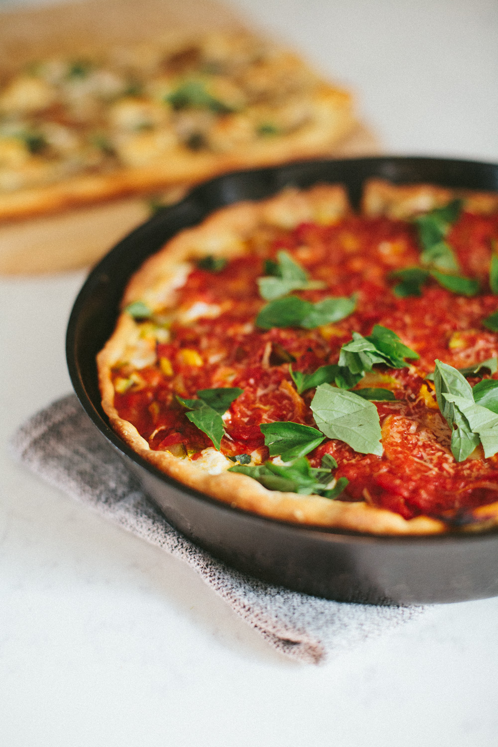 deep dish sourdough pizza / go eat your bread with joy