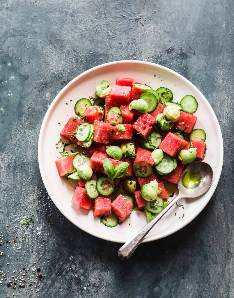 Cucumber Avocado Watermelon Salad from Heartbeet Kitchen