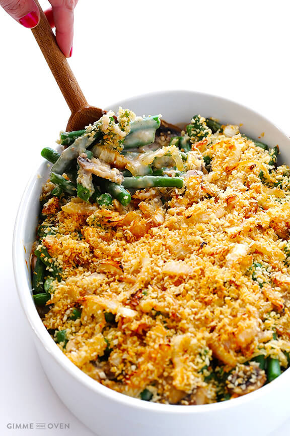 Healthier Green Bean Casserole from Gimme Some Oven