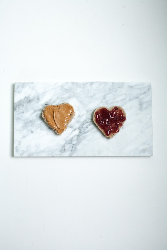 PB + J in a roundup of Valentine food ideas shaped in hearts / Go Eat Your Bread with Joy #valentines