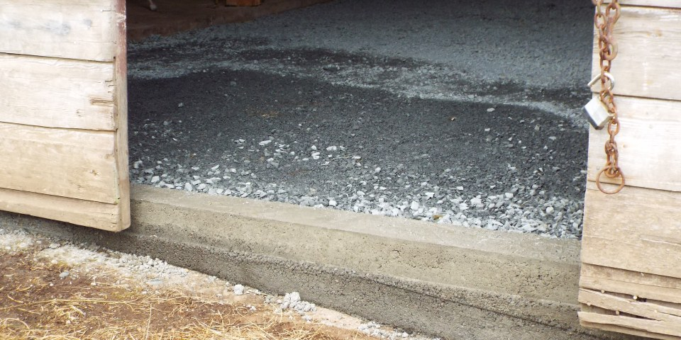 Newly poured curb