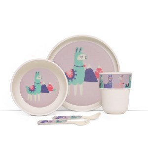 Penny Scallan Design Bamboo Mealtime Set, Loopy Llama
