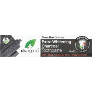 Dr Organic Activated Charcoal Extra Whitening Toothpaste 100g