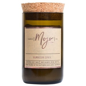 Mojo Candle Co Wine Bottle Candle Moroccan Spice