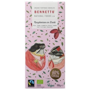 Bennetto Vegan Chocolate Raspberry Dark Chocolate