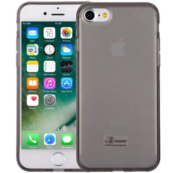 iPhone 8/7 Hoesje Siliconen Zwart Transparant