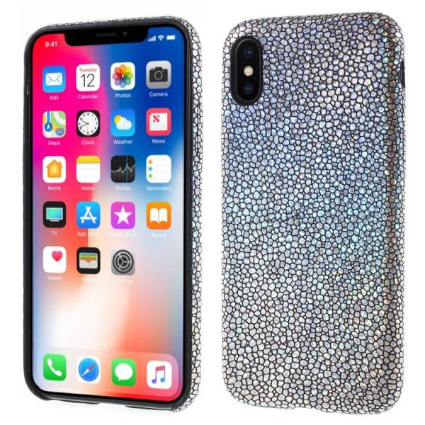 iPhone X Softcase Hoesje Slangen Print Hologram