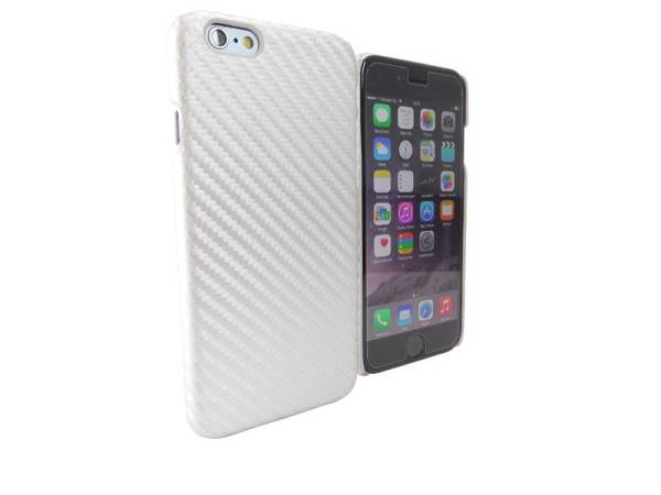 Carbon Hardcover case iPhone 6 en 6S Grijs