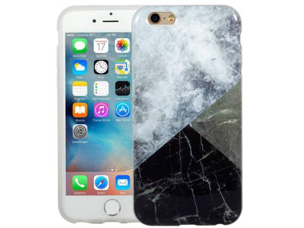 Marmer iPhone 6 / 6S Hoesje Marble Combi Color