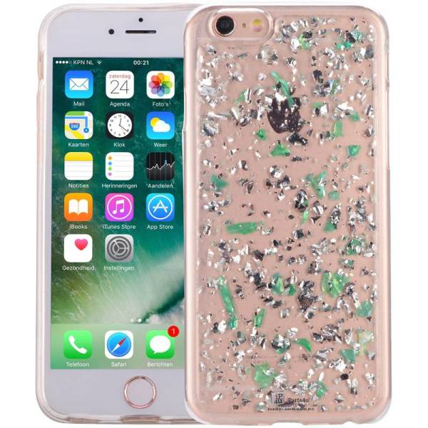 iPhone 6/6S Glitter Hoesje Snippers Parelmoer Groen