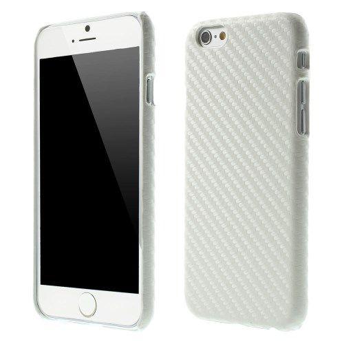 Carbon Hardcover case iPhone 6 en 6S Wit
