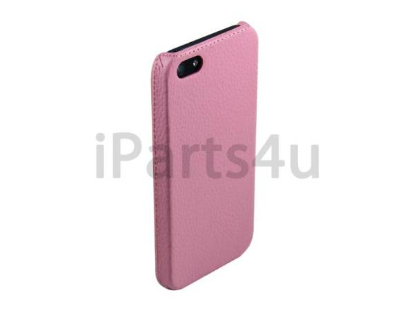 Hardcover Snap Case iPhone 5/5S Luxe Leder Roze