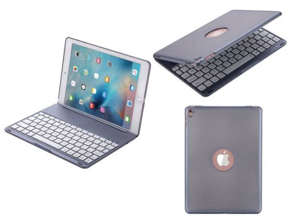 Toetsenbord iPad Air 2 / iPad Pro Hoes Note Kee Space Grey