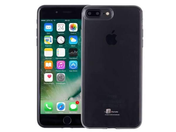 Ultradun iPhone 8/7 Plus Hoesje Siliconen Zwart Transparant