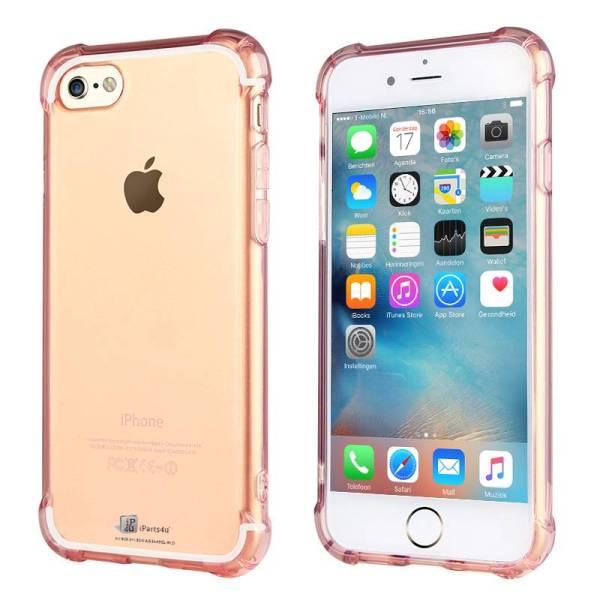 iPhone 6/6S Bumper Case Siliconen Shockproof Hoesje Roze Transparant