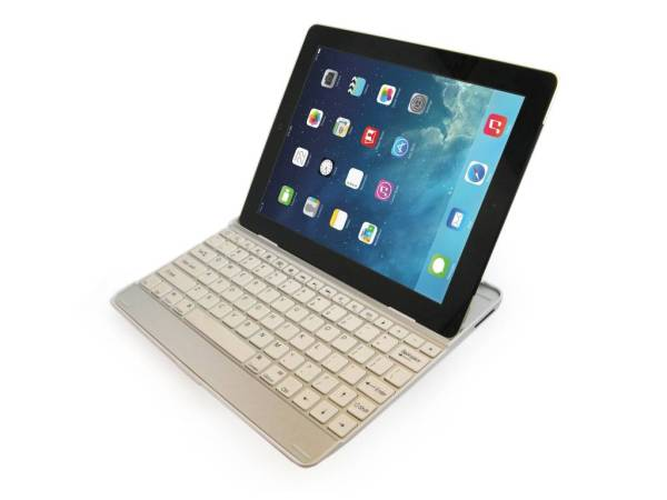 iPad Air Aluminium Toetsenbord Keyboard Case Wit