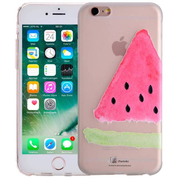 iPhone 6/6S Hoesje Watermeloen Fruity Siliconen