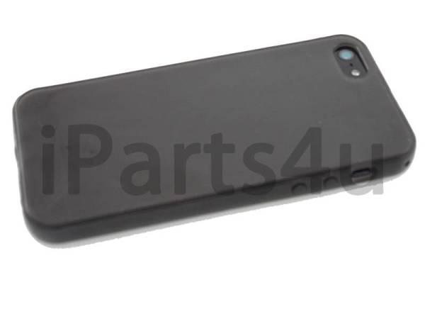 Siliconen Gel iPhone 5/5S Hoesje Zwart Transparant