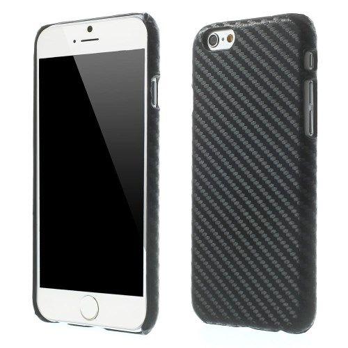 Carbon Hardcover case iPhone 6 en 6S Zwart