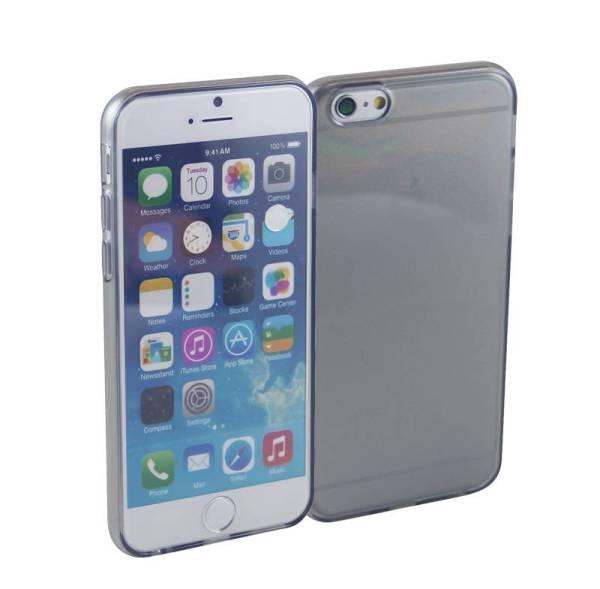 Siliconen Gel TPU iPhone 6 en 6S Hoesje Zwart Transparant