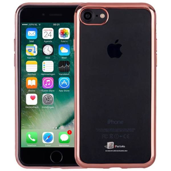 Ultra Dun iPhone 8/7 Bumper Case Hoesje Siliconen Rose Goud