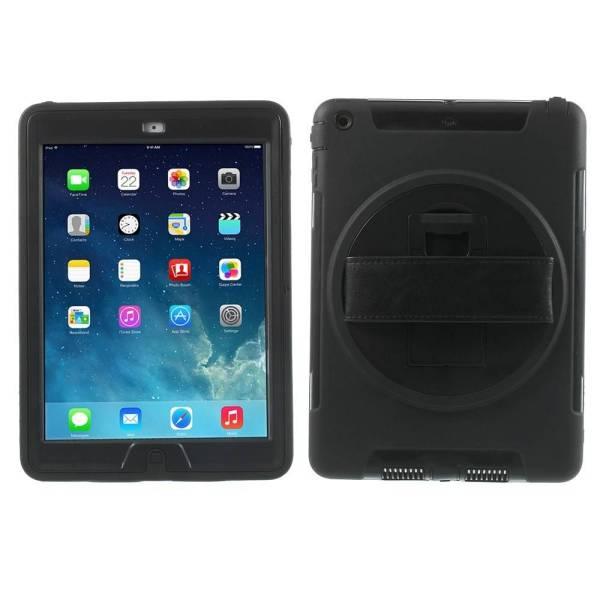 iPad Air Draaibare Hoes 360 Graden Met Draagband Zwart