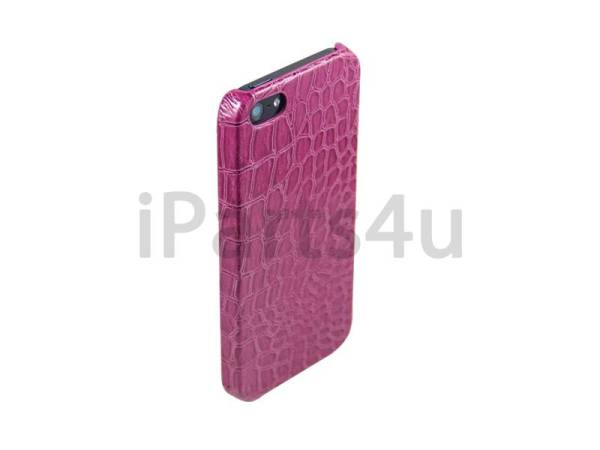 Krokodil Hardcover Snap Case iPhone 5/5S Croco Paars