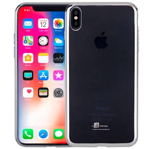 Ultra Dunne iPhone X Hoesje Bumper Case Siliconen Zilver
