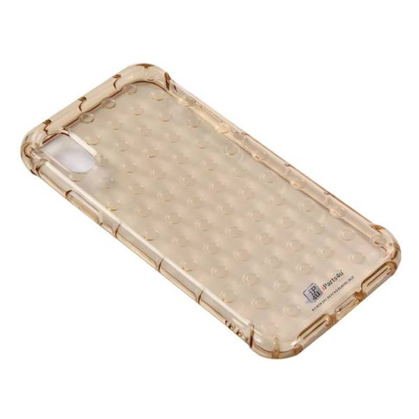 iPhone X Hoesje Shockproof Bubbles Goud Transparant