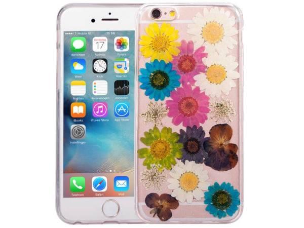 iPhone 6/6S Hoesje Echte Bloemen Kleuren Siliconen