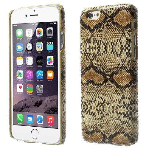 iPhone 6 en 6S Hardcase Hoesje Slangenprint Bruin