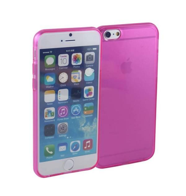 Siliconen Gel TPU iPhone 6 en 6S Hoesje Roze Transparant