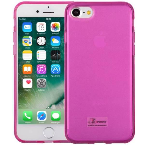 iPhone 8/7 Hoesje Siliconen Roze Transparant
