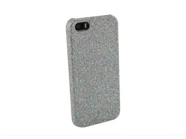 Glitter case iPhone 5&5S zilver