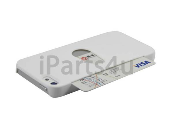 iPhone 5/5S Hoesje Bankpas Creditcard Wit
