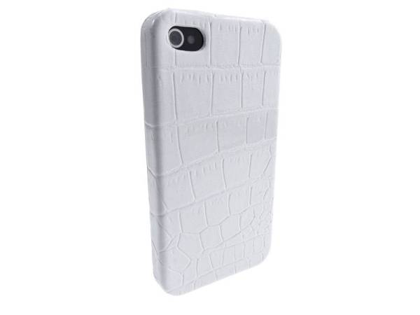 Krokodil Hardcover Snap Case iPhone 4 Croco Wit