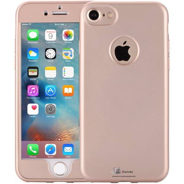 iPhone 6/6S Hoesje 360 Graden Siliconen Full Protection Logo Goud