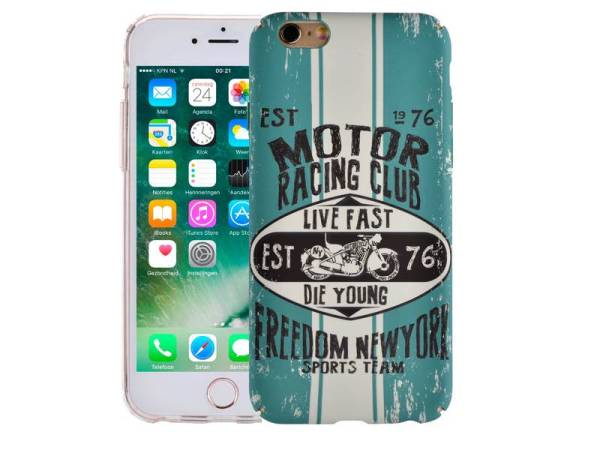 iPhone 6/6S Hoesje Vintage Look Motor Racing