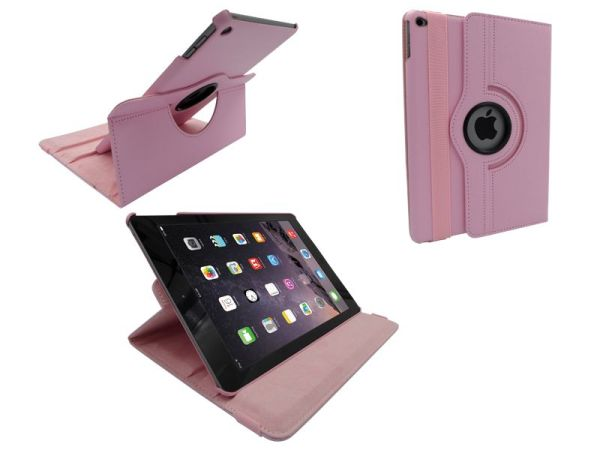 iPad Air 2 Leder Hoes Draaibaar 360 Graden Roze