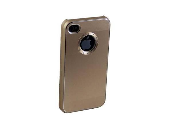 iPhone 4/4S Hardcase Logo Aluminium diamant Goud